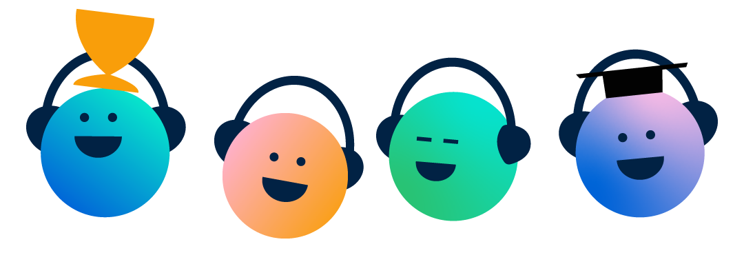 Podcast Success Academy icon characters